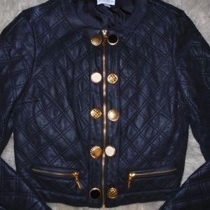 Bisou Bisou Jackets & Coats - BISOU BISOU MICHELE BOHBOT ~ FAUX LEATHER JACKET~M